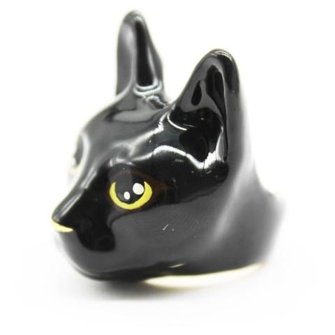 Кольцо Кошка (черная)