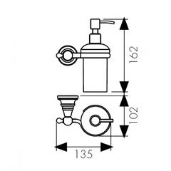 Дозатор для жидкого мыла настенный Kaiser Arno BR KH-4210 схема