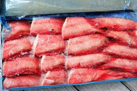 Окунь отборный морской сухой заморозки - брикет 8кг , Баренцево море