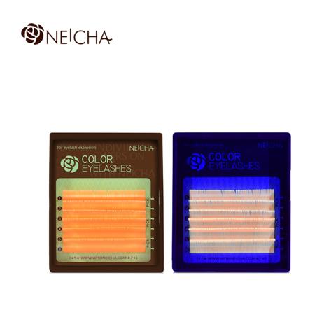 Ресницы NEICHA нейша флуоресцентные 6 линий MIX ORANGE