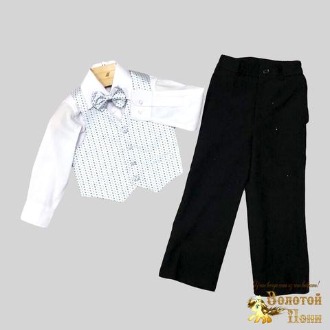 Костюм 4 предмета нарядный мальчику (2-7) 191130-R1516