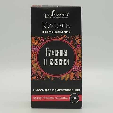 Кисель Клубника и ежевика POLEZZNO, 100 гр