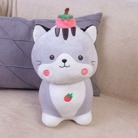 Мягкая игрушка кот с клубничкой DL203807307GR