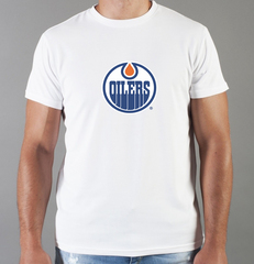 Футболка с принтом НХЛ Эдмонтон Ойлерз (NHL Edmonton Oilers) белая 003