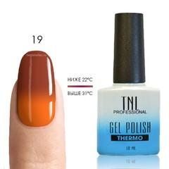 TNL, Термо гель-лак № 19 - корица/оранжевый, 10 мл