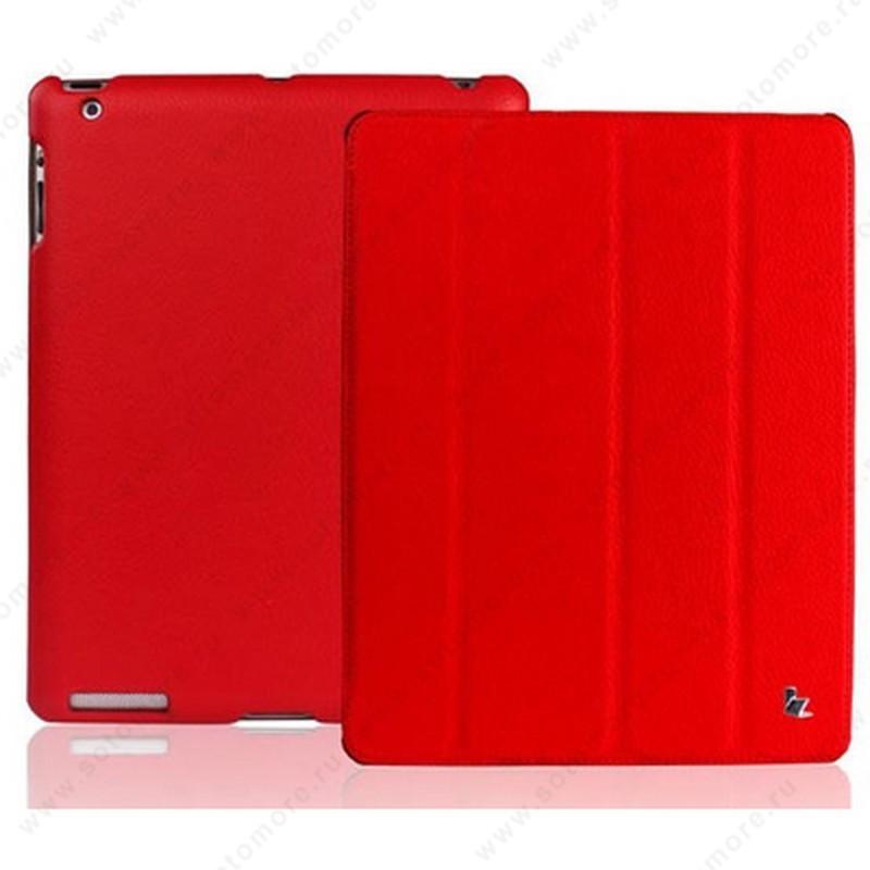 Чехол-книжка Jisoncase для Apple iPad 2 - красный с логотипом
