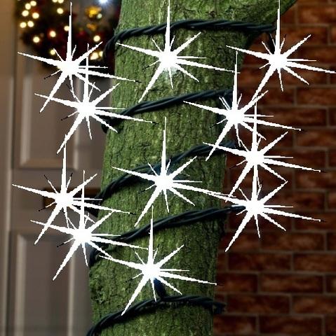 Уличная на дерево гирлянда нить string led с мерцанием каждого диода каучук провод кабель шнур
