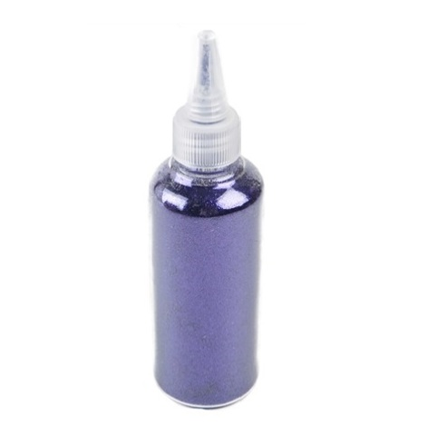 Блёстки в баночке 80 г с дозатором, цвет: фиолетовый