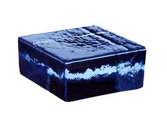Кирпич стеклянный Vetropieno blu половинка 12х11,7х5,3 см.