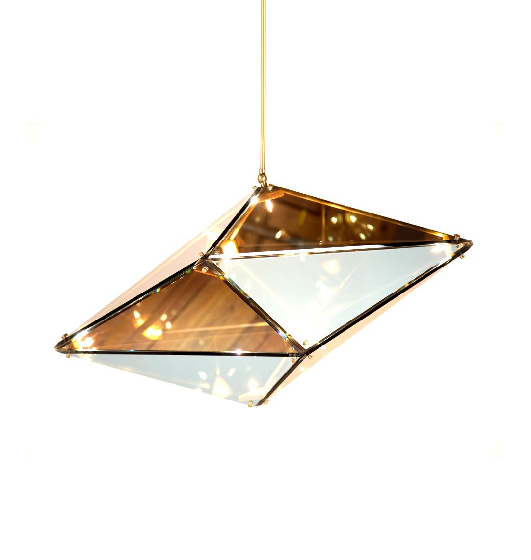 Подвесной светильник копия Maxhedron Horizontal by Bec Brittain (янтарный)