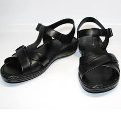 Черные босоножки без каблука Evromoda 15 Black.
