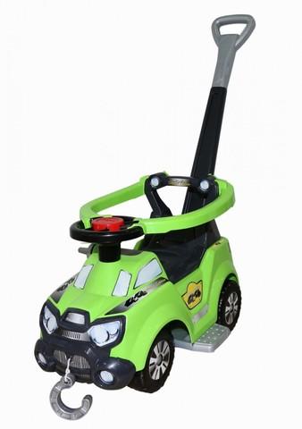 Каталка-автомобиль Sokol с ручкой, подножкой и ограждением