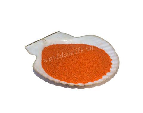 Оранжевый цветной песок 300 гр.