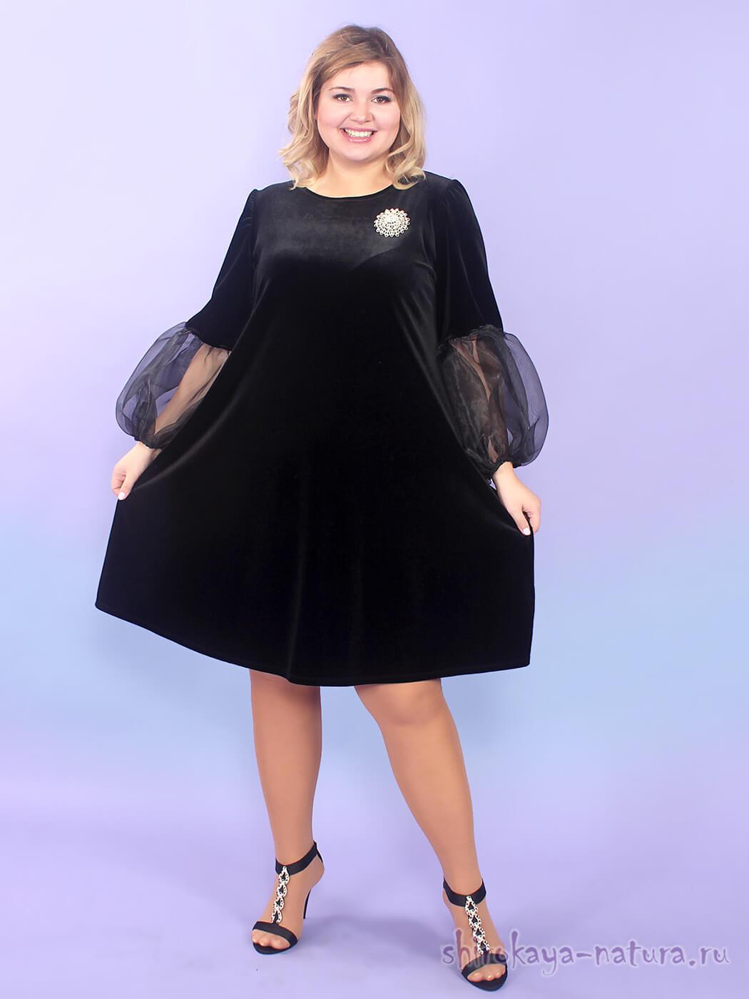 Велюровое платье Маура