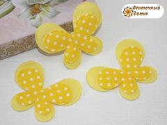 Мягкий декор Бабочки текстильные желтые