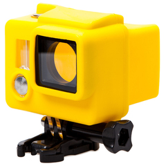 Силиконовый чехол для бокса GoPro 3+/4 (Желтый)