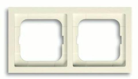 Рамка на 2 поста. Цвет Кремовый глянец. ABB(АББ). Future Linear(Фьючер Линеар). 1754-0-4231