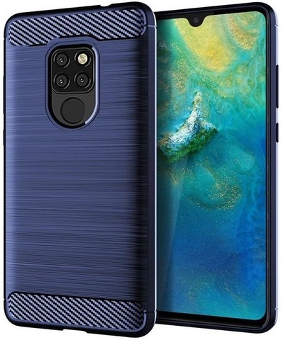 Чехол Huawei Mate 20 цвет Blue (синий), серия Carbon, Caseport