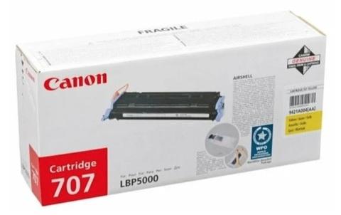 Оригинальный картридж Canon 707Y 9421A004 желтый
