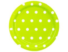 Тарелка Горошек светло-зеленая
