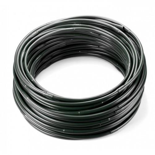 Трубка капельного полива 16мм, капля 3.6 л/час, шаг 33см (черная)