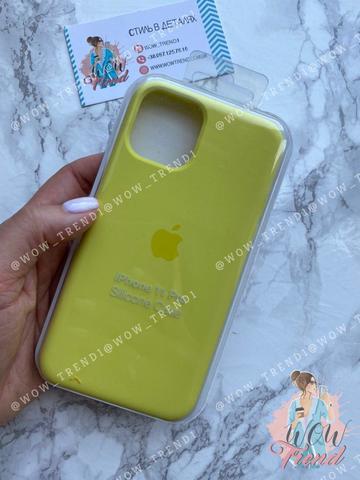 Чехол iPhone 11 Pro Silicone Case /flash/ лимонный 1:1