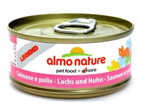 Консервы (банка) Almo Nature Legend Adult Cat Salmon&Chicken