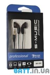 Наушники S-Music Start MX-500 black