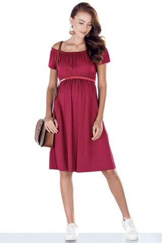 Платье для беременных 09426 красный