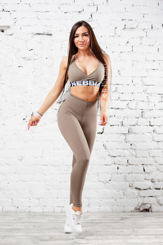 Женские лосины Nebbia HIGH WAIST SCRUNCH BUTT 604 mocha