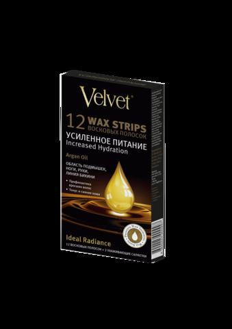 Velvet Восковые полоски  Argan Oil «Усиленное питание»