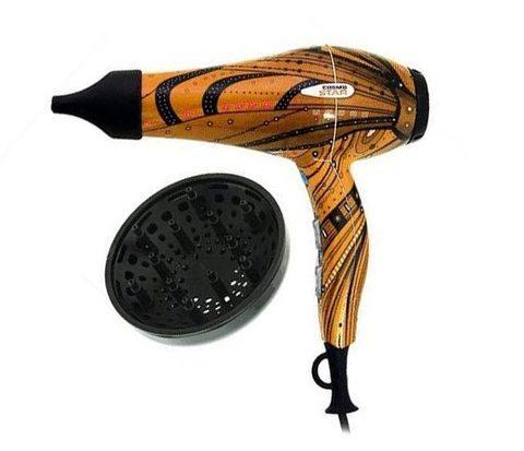 Фен для волос Gamma Piu Cosmo star 2000 Вт с ионизацией золотой