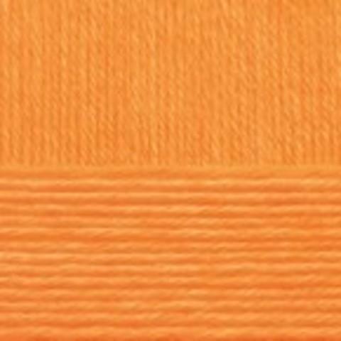Купить Пряжа Пехорка Детский каприз Код цвета 485-Жёлтооранжевый | Интернет-магазин пряжи «Пряха»