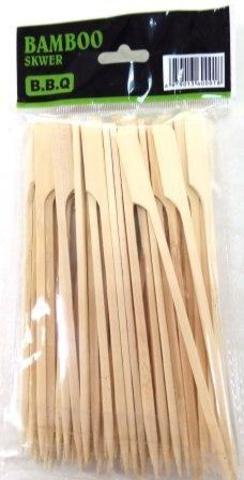 Набор шампуров, бамбук, 15см  50шт