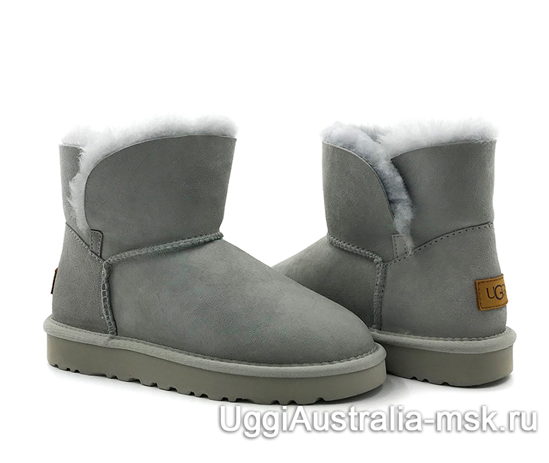 UGG Women's Classic Mini Cuff Boot Light Gray