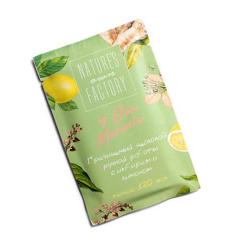 Белый шоколад с лимоном, имбирём и гречишным чаем Nature's own Factory, 20 г