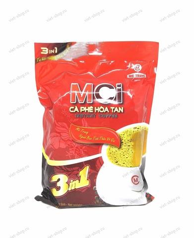 Вьетнамский растворимый кофе Me Trang Instant MCI 3 в 1, 24 пакетика, мягкая упаковка.