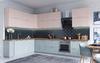 Модульный кухонный гарнитур «Квадро» 3600/2500мм (Роза/Нарцисс), ЛДСП/МДФ, ДСВ Мебель