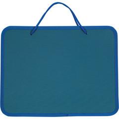 Папка-портфель пластиковая А4 синяя (270x350 мм, 1 отделение)