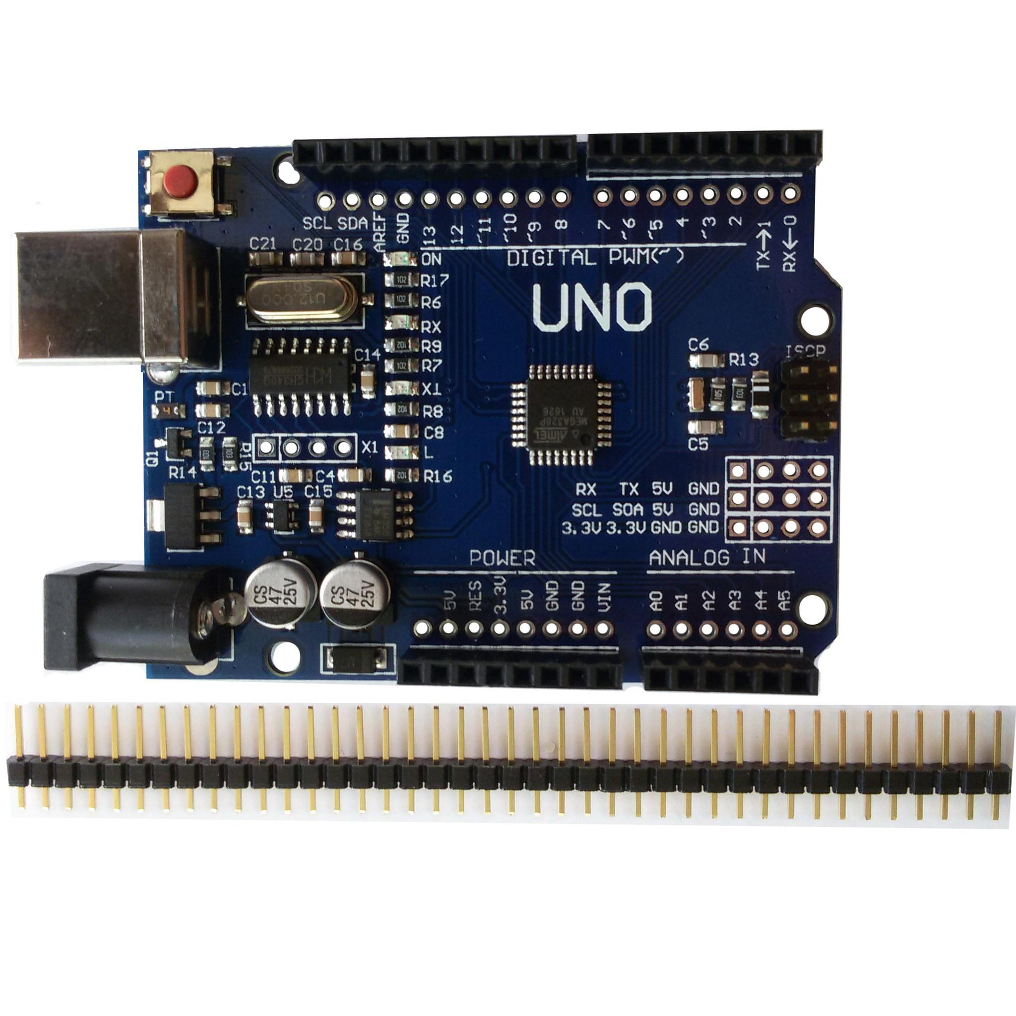 UNO R3 CH340G (Arduino совместимый контроллер) с USB-кабелем