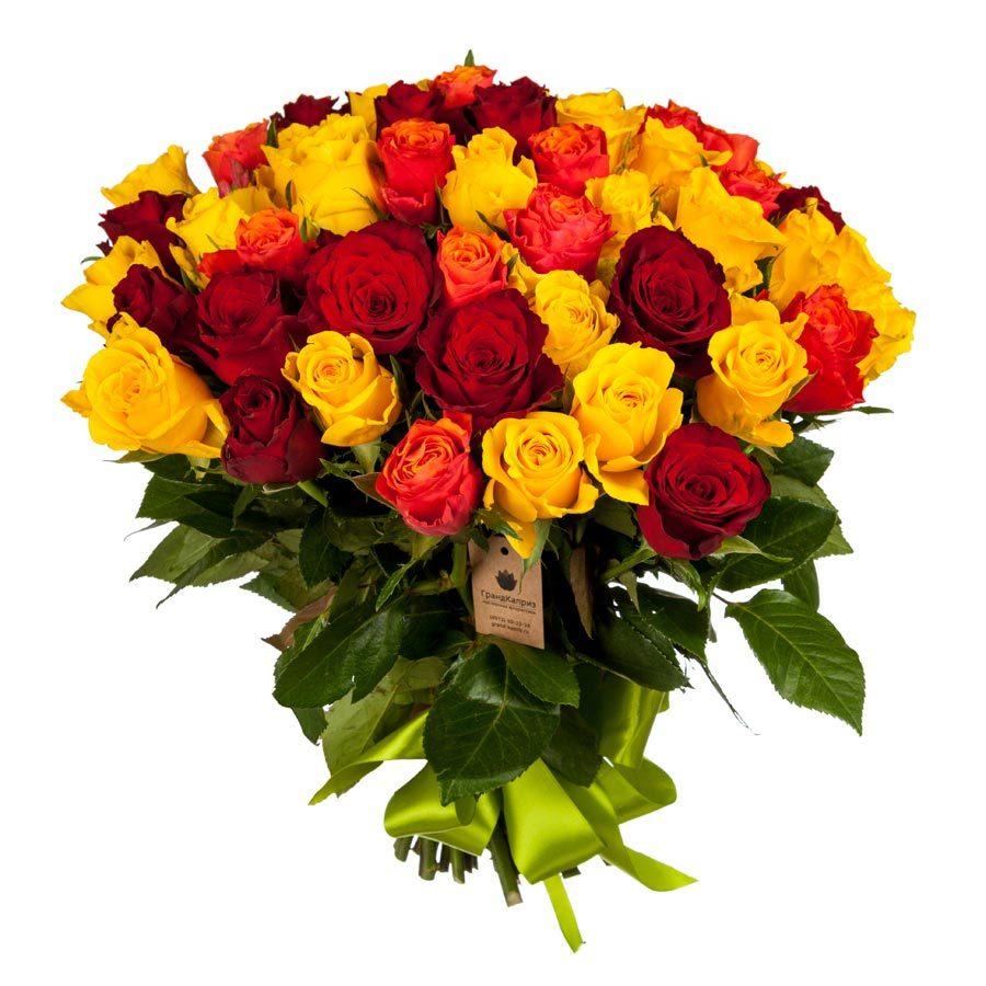 Букет-микс из 51 розы (40 см)