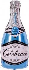 К Фигура, Бутылка Шампанское, Голубой, 39''/99см.