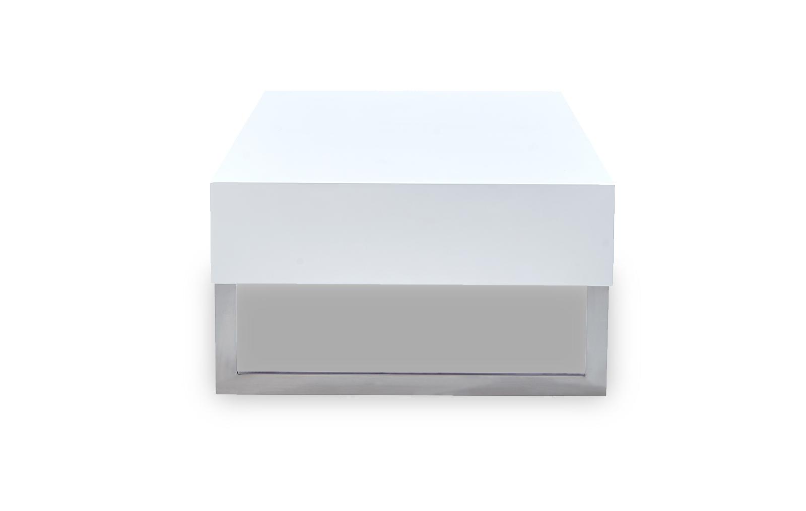 Стол журнальный CT-140 белый (вид сбоку)