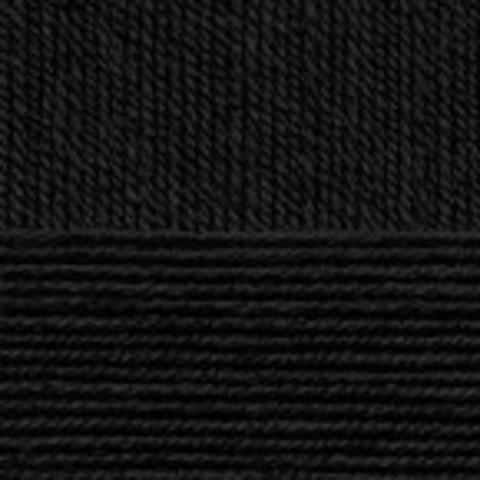 Купить Пряжа Пехорка Детская новинка Код цвета 002-Черный | Интернет-магазин пряжи «Пряха»