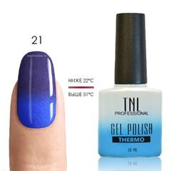 TNL, Термо гель-лак № 21 - ультрамарин/синий (с перламутром), 10 мл