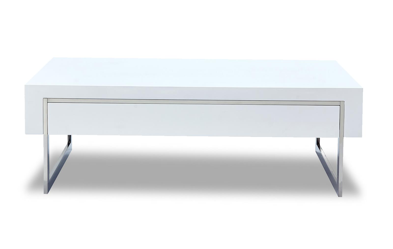 Стол журнальный CT-140 белый (анфас)