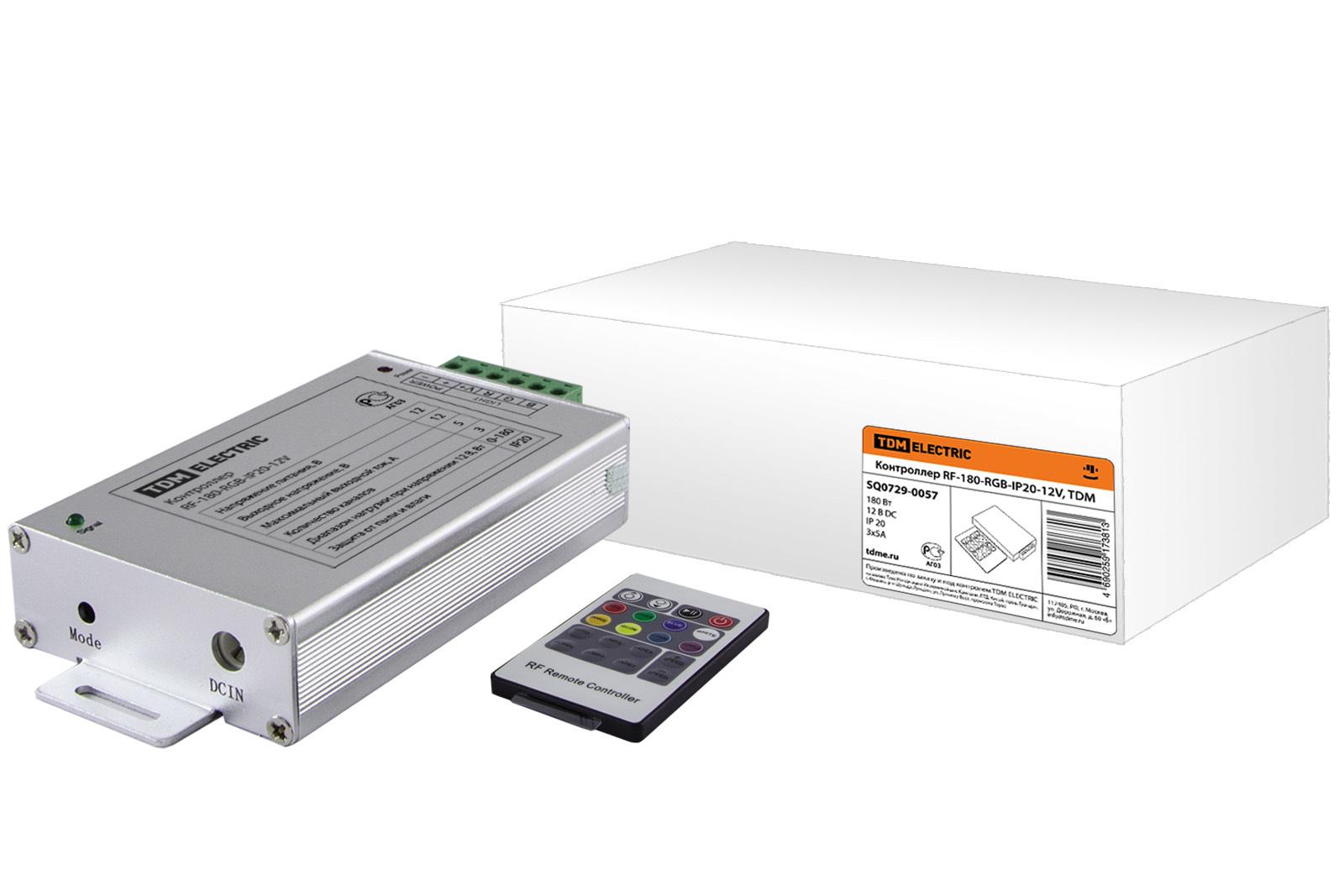 Контроллер для светодиодных модулей RGB RF-180-RGB-IP20-12V, TDM