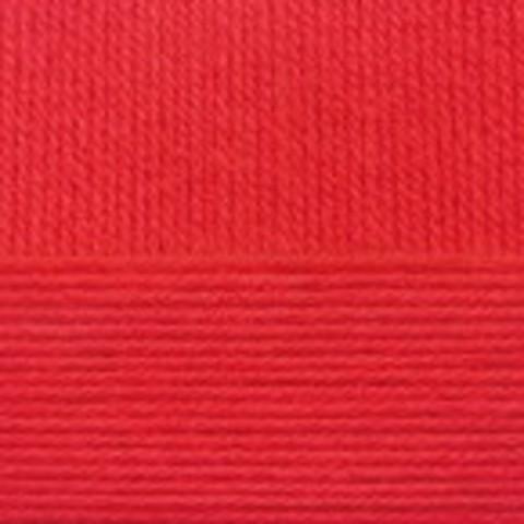 Купить Пряжа Пехорка Детская новинка Код цвета 006-Красный | Интернет-магазин пряжи «Пряха»