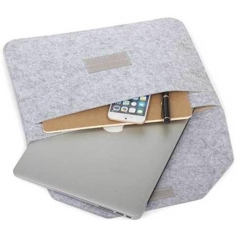 Чехол для Macbook Pro 16 - Фетровый (Светло-серый)