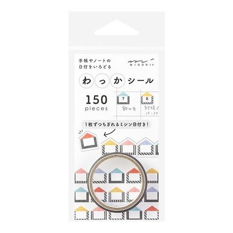 Стикеры Midori Notebook Sticker Wakka Houses